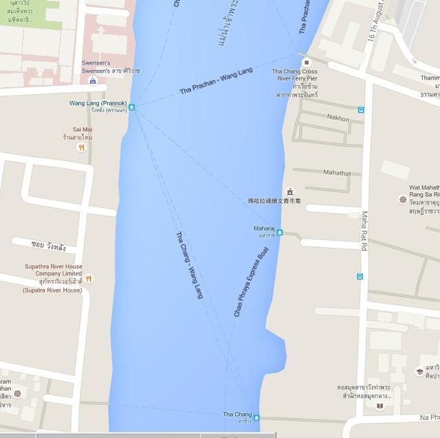 昭披耶河的Maharat碼頭有船到對面嗎?