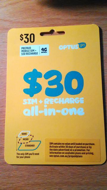how to change optus plan prepaid